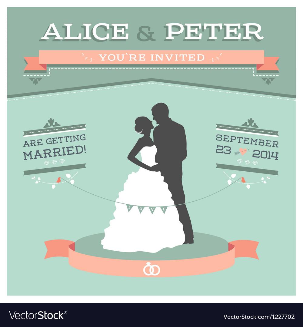 Wedding invitation 2 s vector image