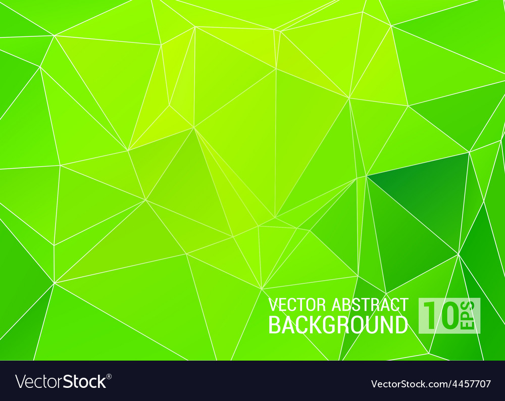 Abstract green triangle background eps10