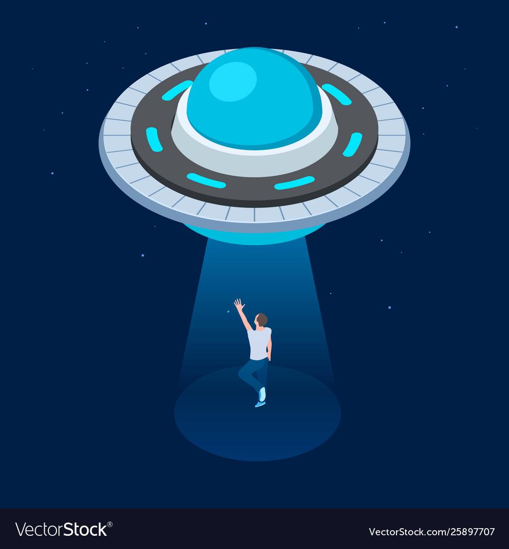 Aliens abduct man ufo flying spaceship