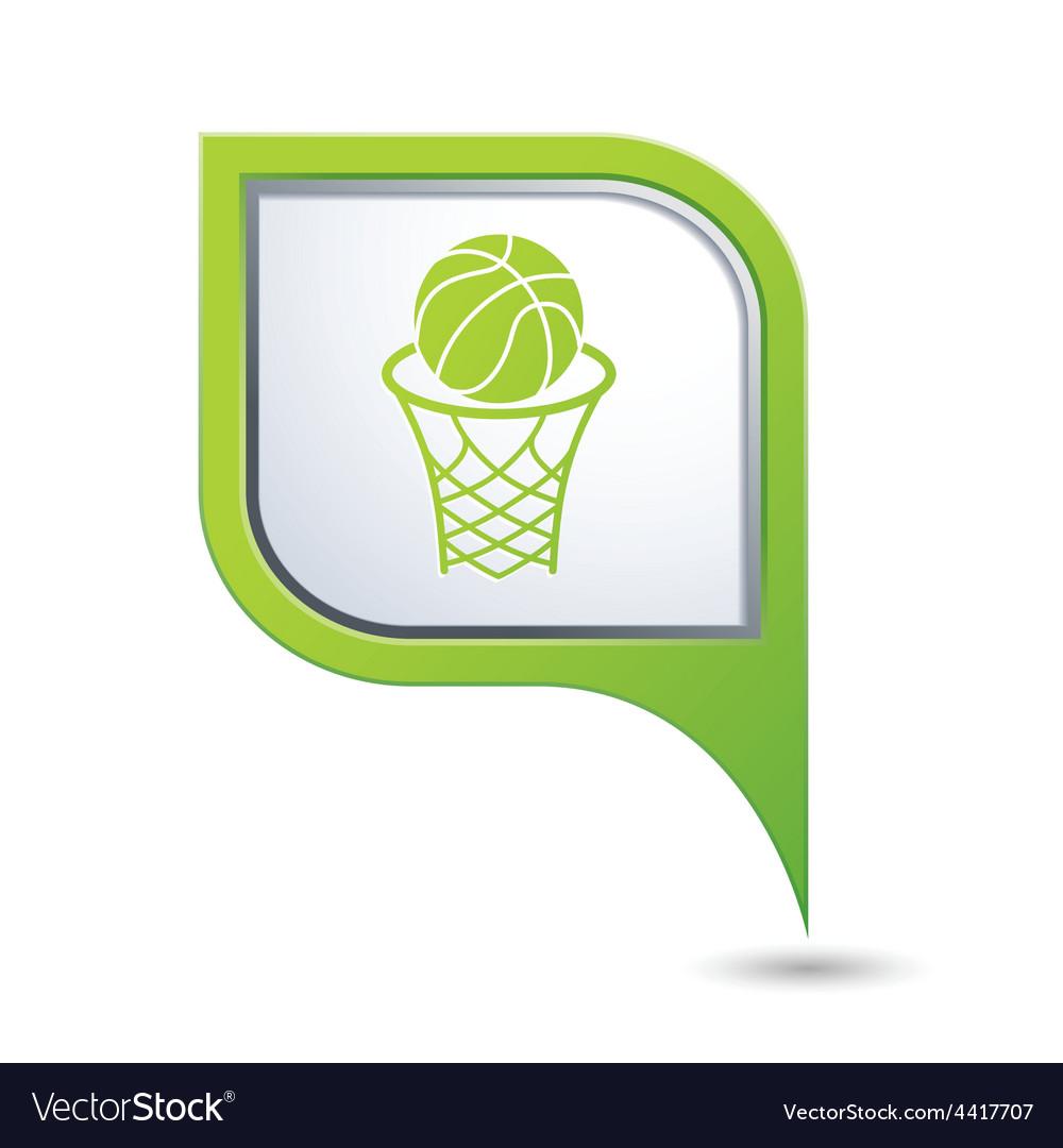Basketball GREEN pointer vector image