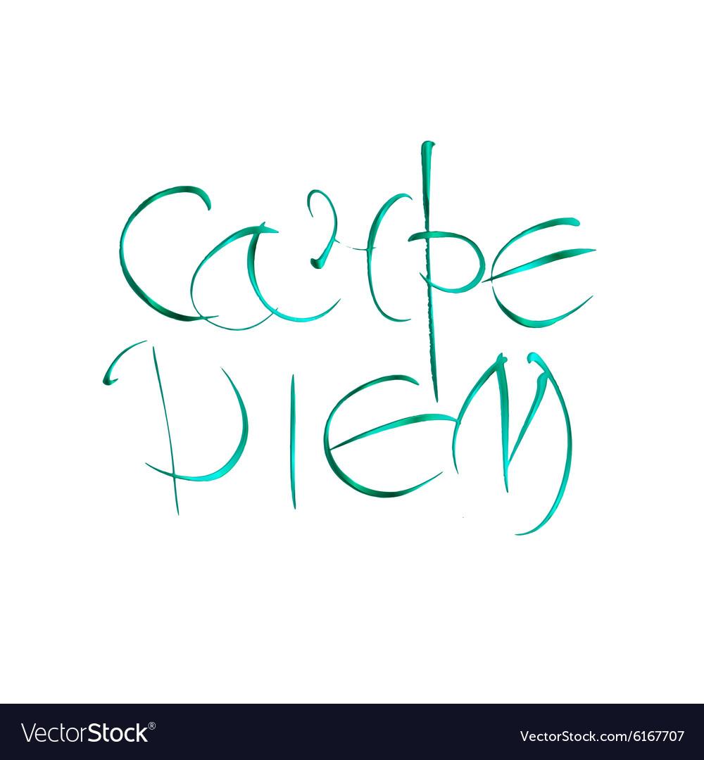 Carpe diem Latin translation seize the moment vector image