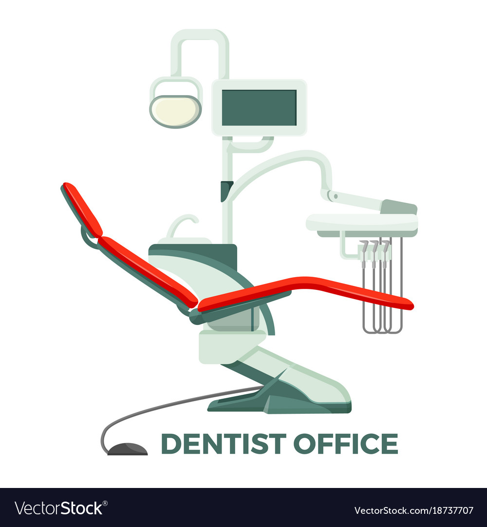 Dentist office with comfortable chair and modern