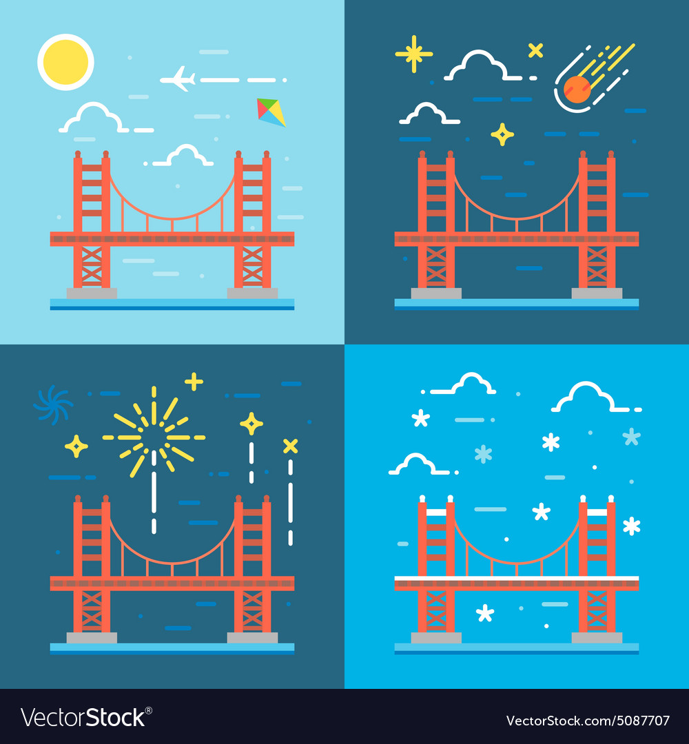 Flat design of Golden gate