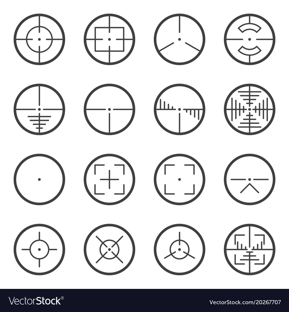 Image of tactical sights icons for use on web