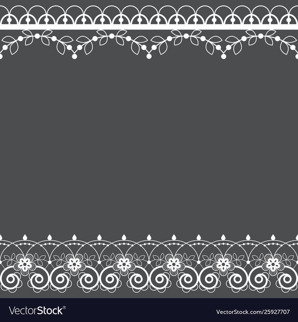 Lace pattern greeting card or invitation