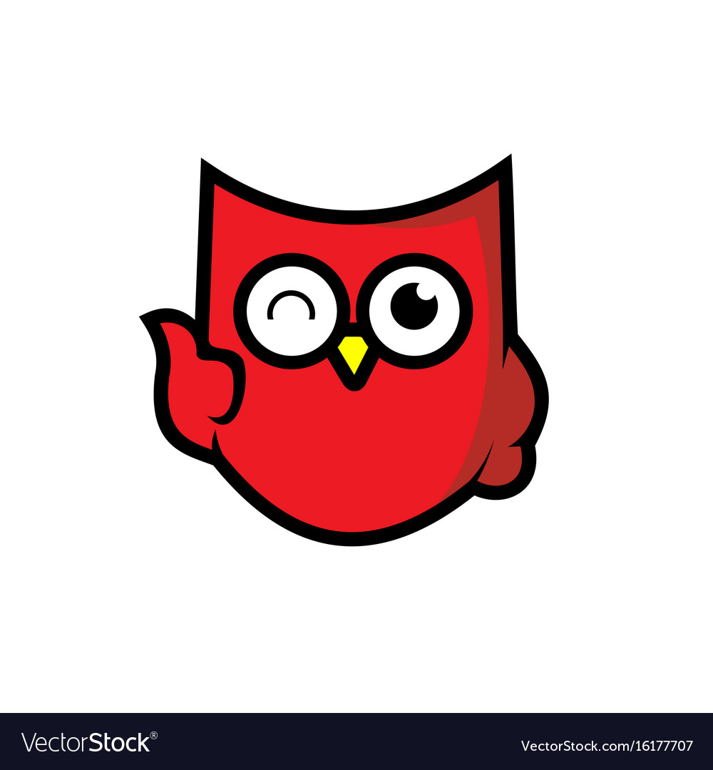 Owl icon shield integrity vector image