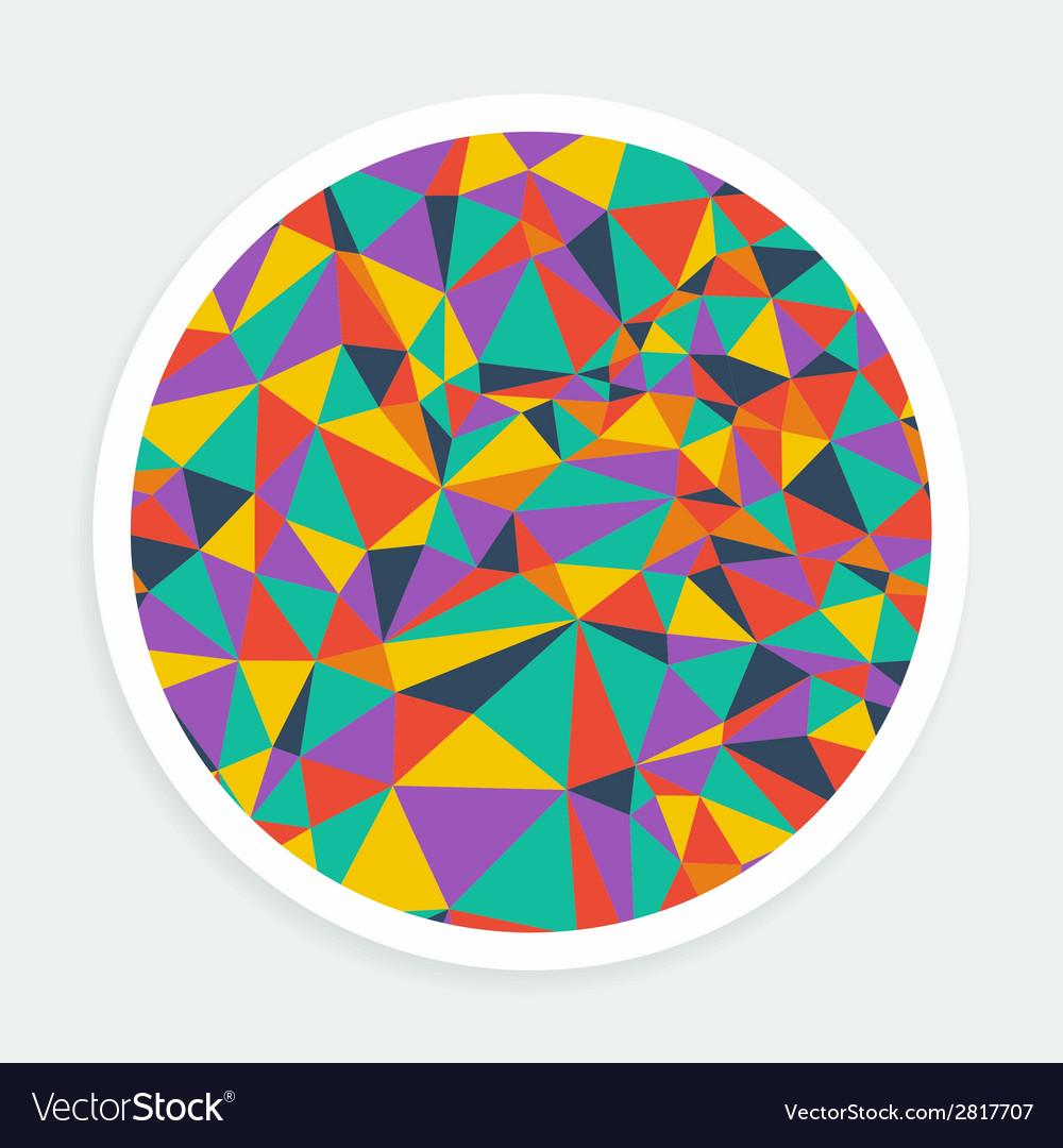 Round background bright mosaic