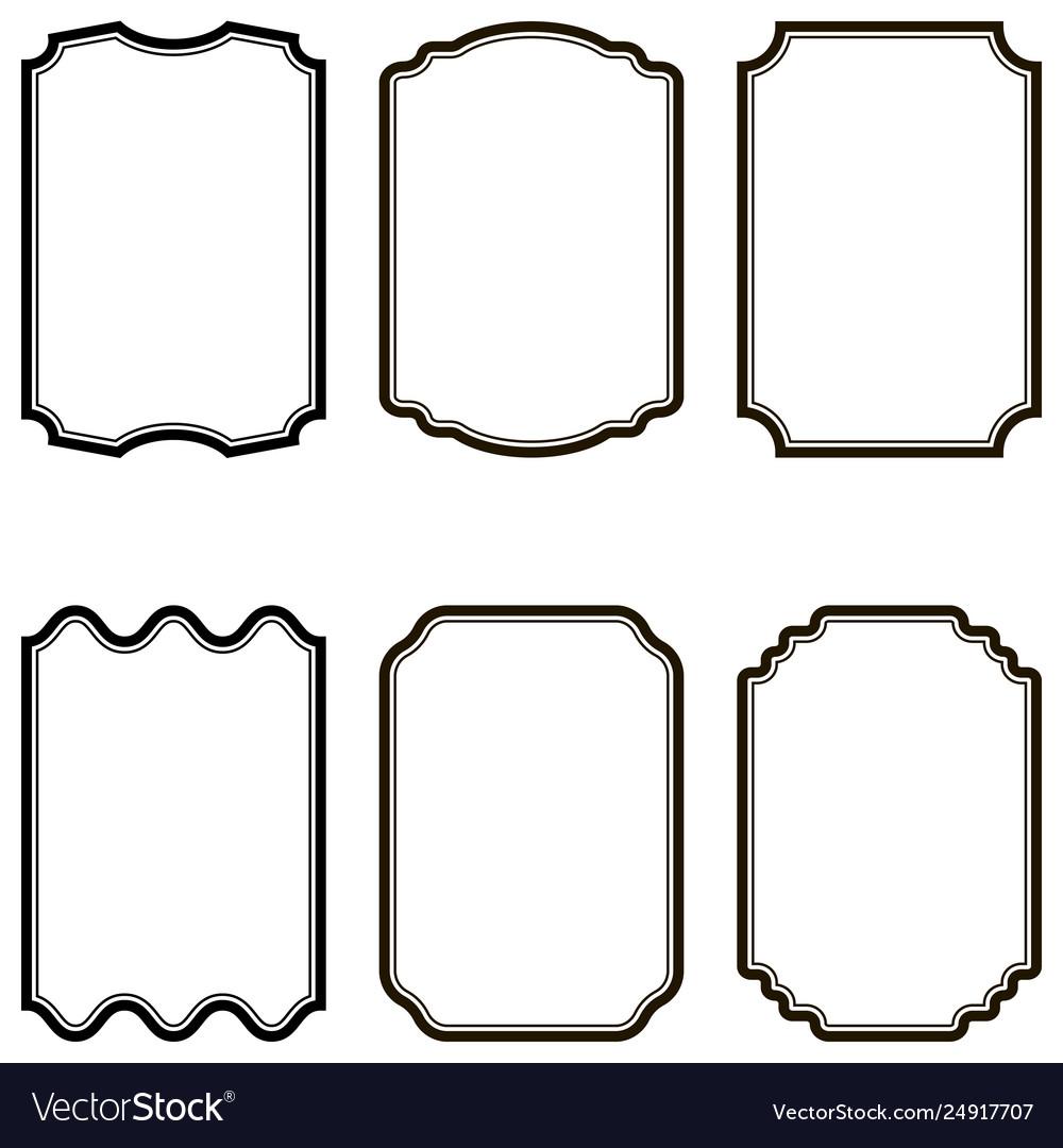 Set form shape template retro labels vintage