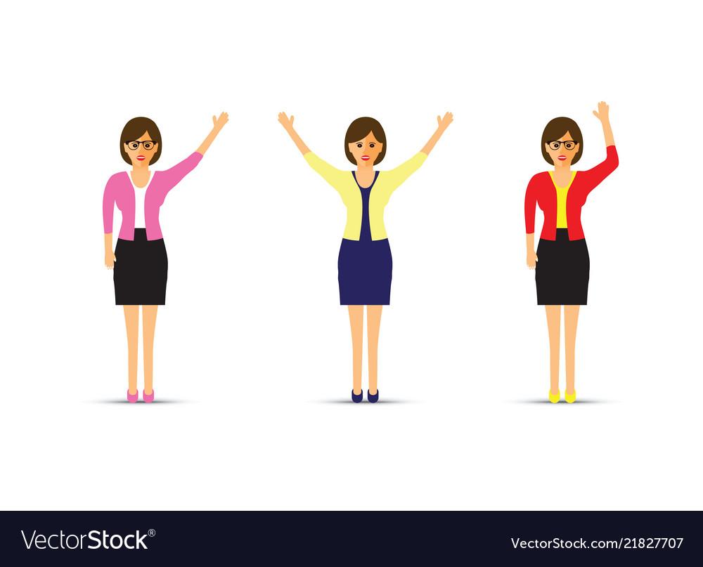 Set of three business women