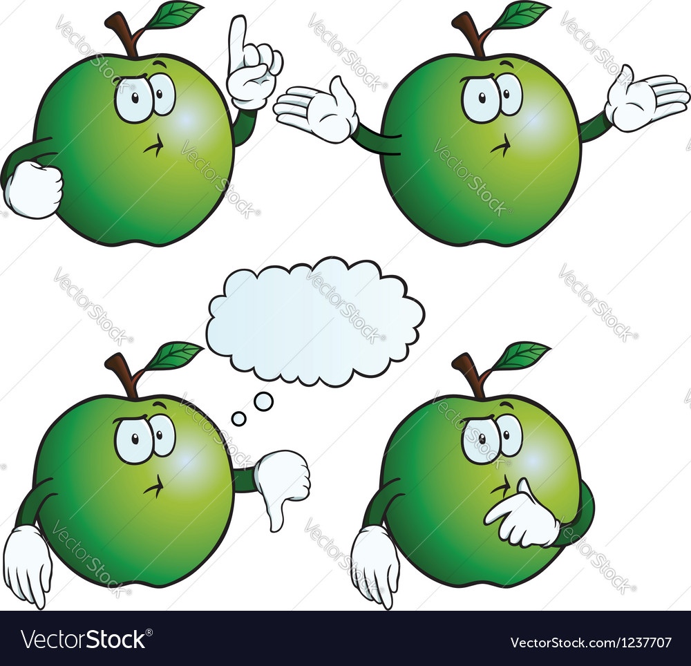 Thinking apple set