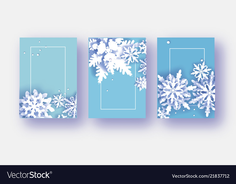 3 merry christmas and happy new year banner white vector image