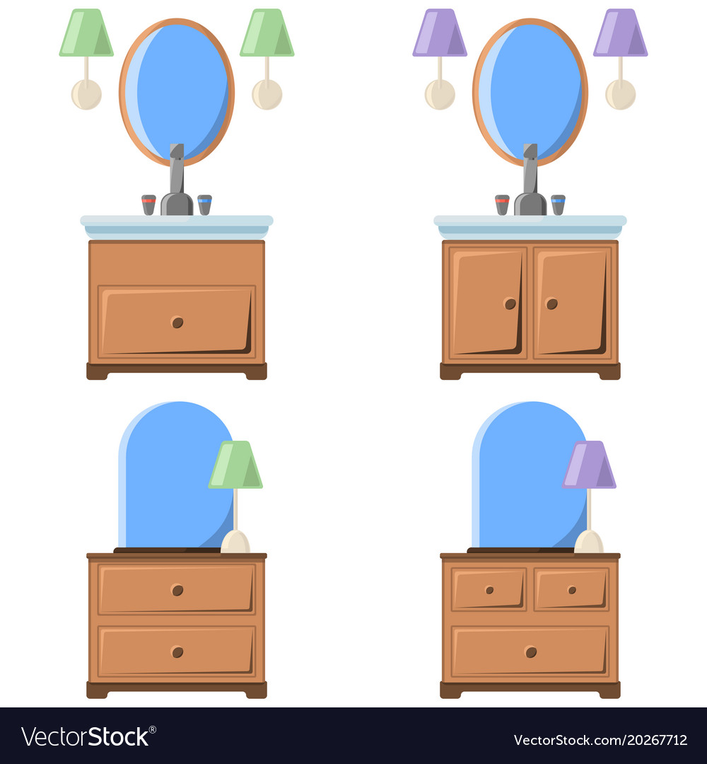 A drawing of a bedside table with
