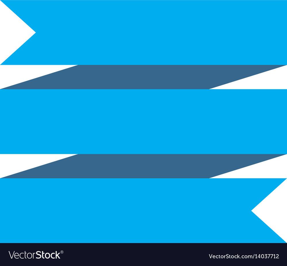 Blue ribbon banner on white background blue Vector Image  Blue ribbon ban...