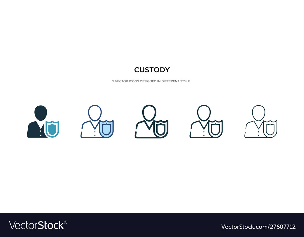 Custody icon in different style two colored
