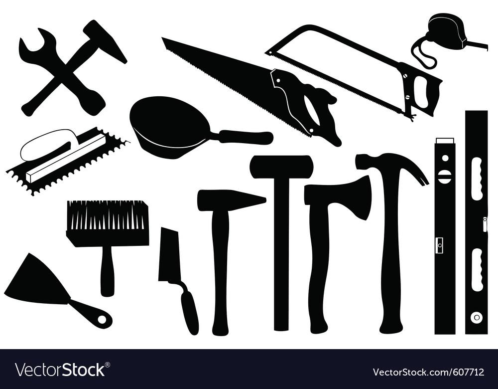 hand tools royalty free vector image vectorstock rh vectorstock com hand tools clipart vector hand tools vector free