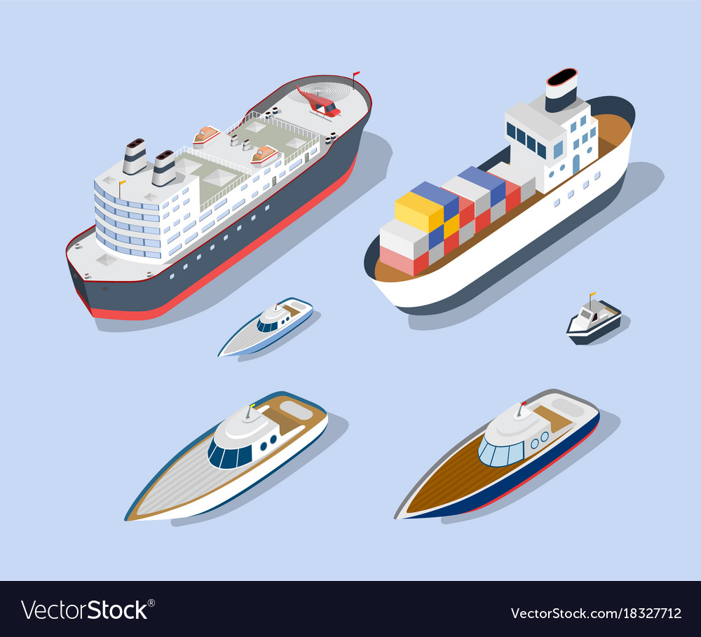 Isometric models of ships