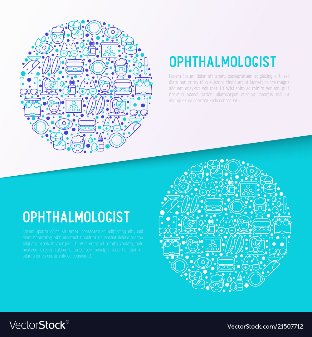 Ophthalmologist concept in circle