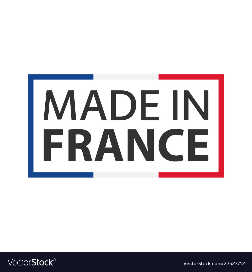 Quality mark made in france colored symbol
