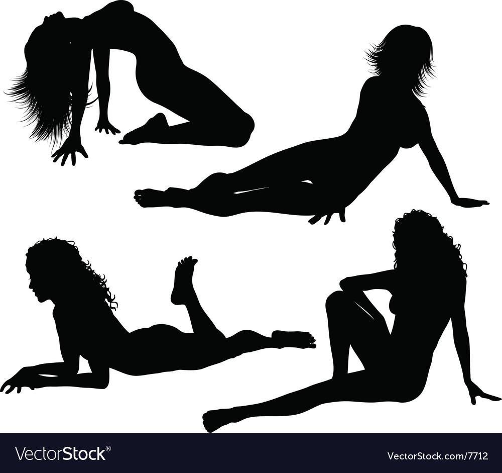 Sexy females vector image