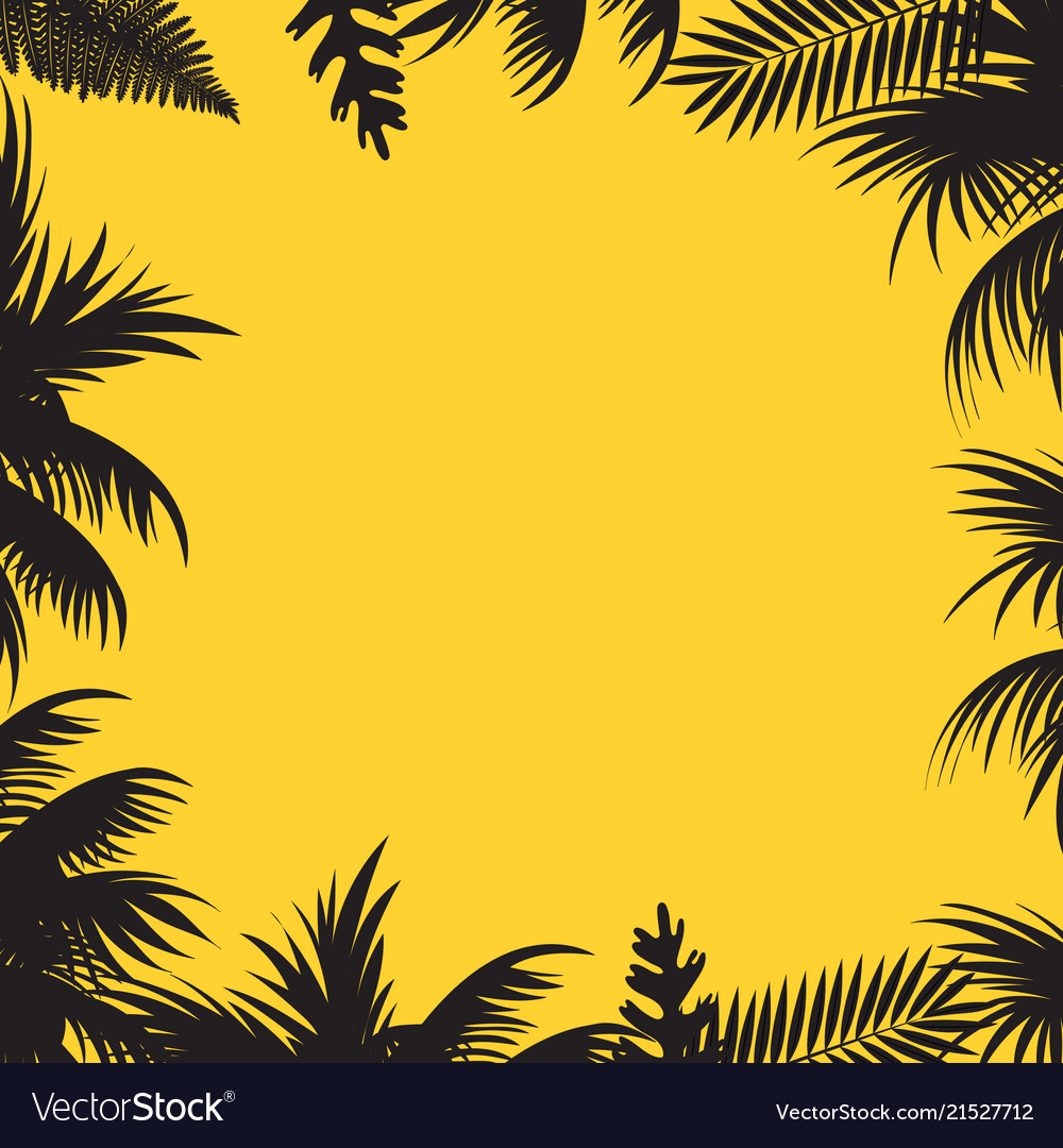 Summer sales background with palm tree leaves