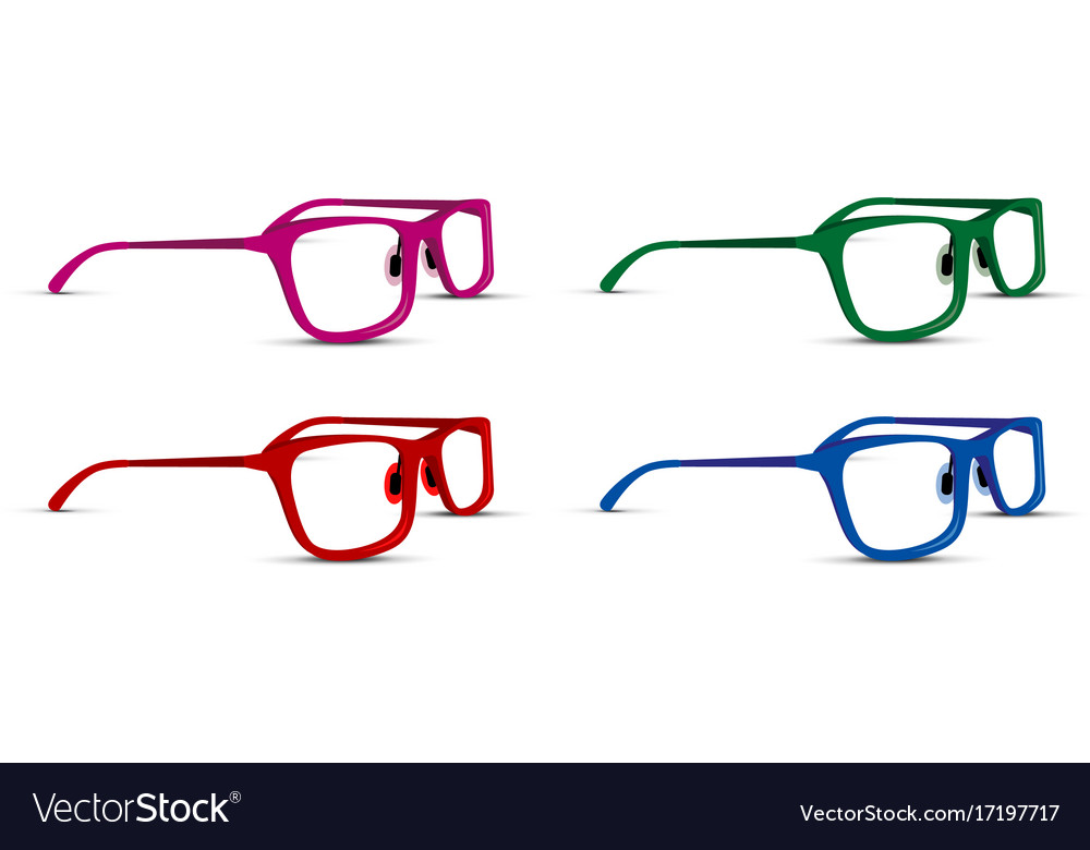 A glasses set on white background