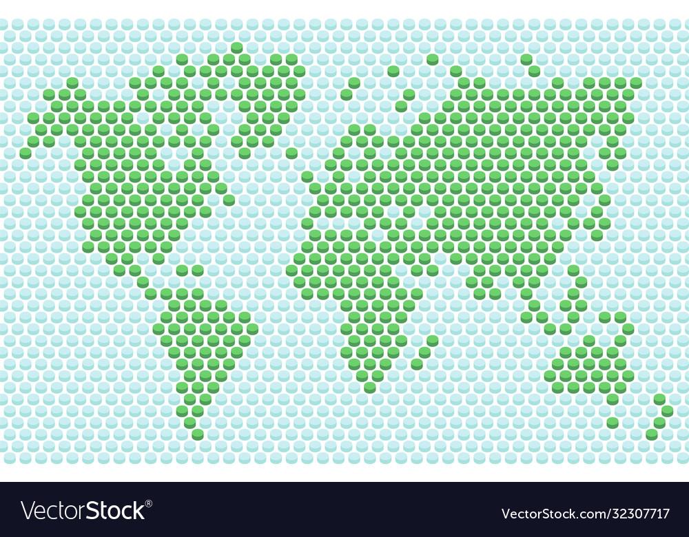 Button dot world map