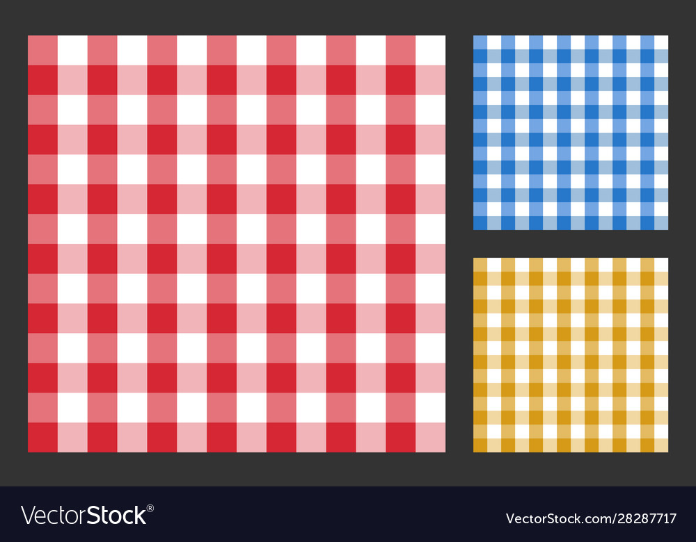 Checkered tablecloth seamless pattern table cloth