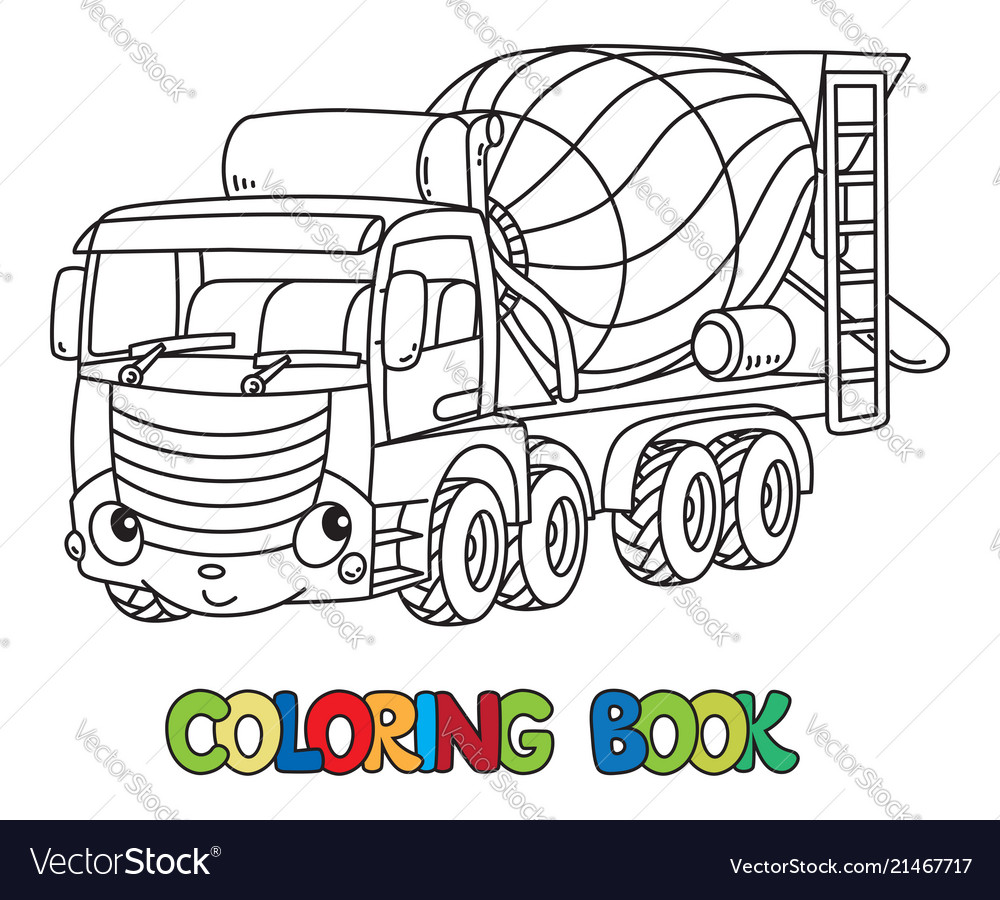 Coloring Page Outline Of Concrete Mixer. Construction Vehicles ... | 900x1000