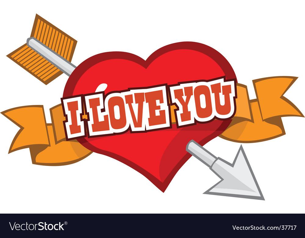 Love You Symbol Royalty Free Vector Image Vectorstock