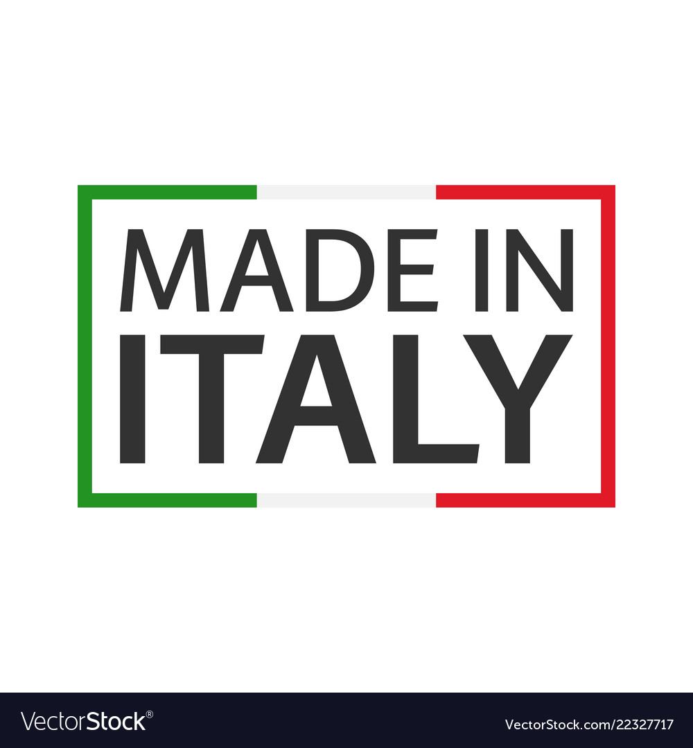 Quality mark made in italy colored symbol