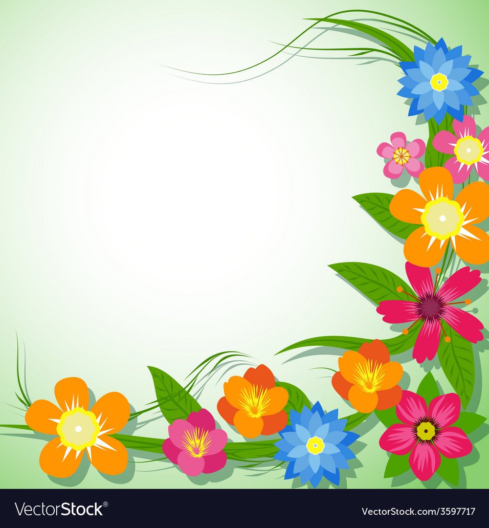 Spring Flower Background Royalty Free Vector Image