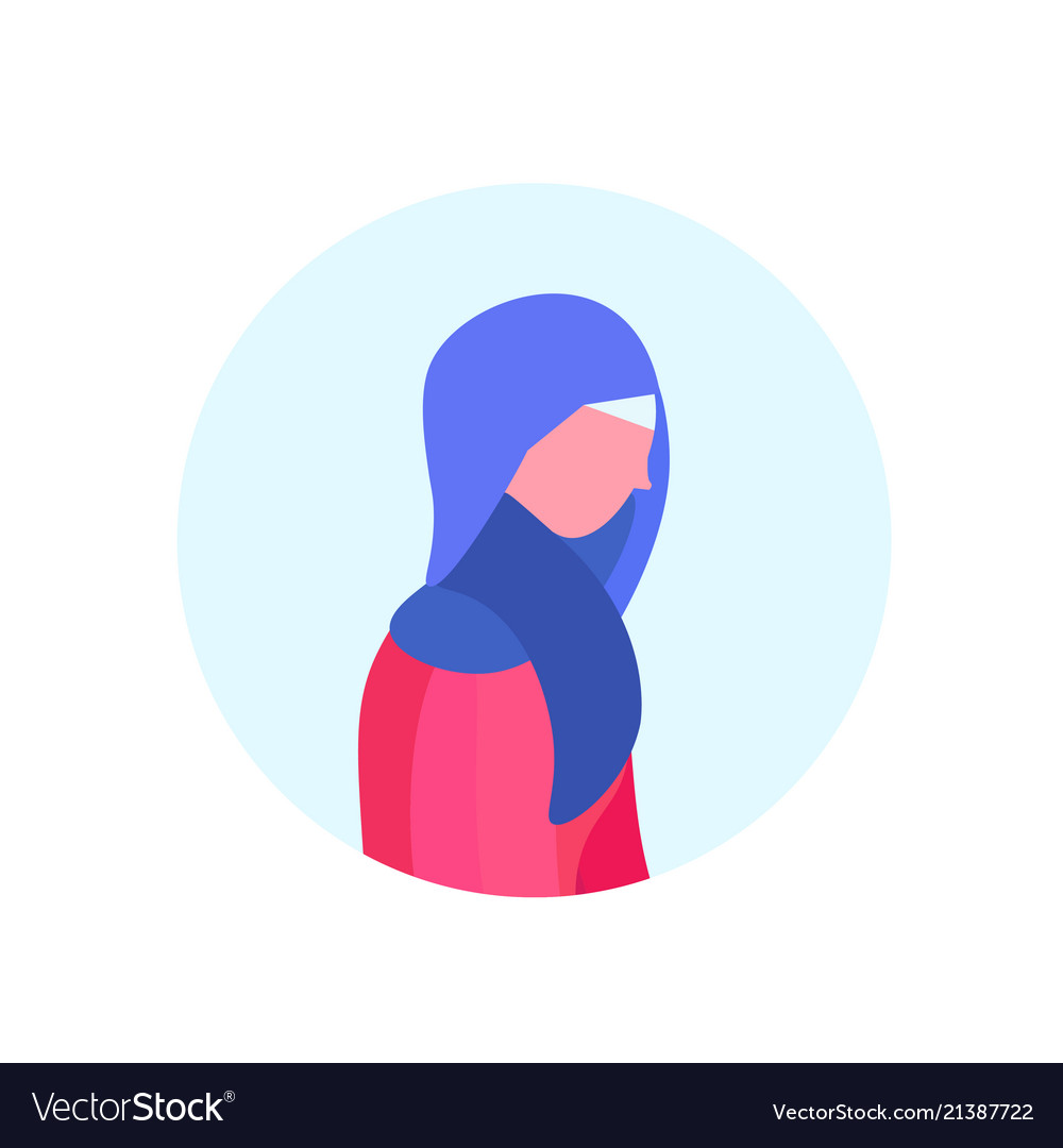 Arab woman profile isolated avatar female