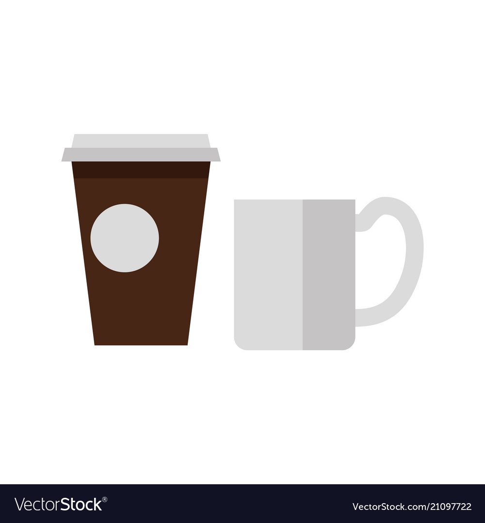 Cups of tea and coffee icons