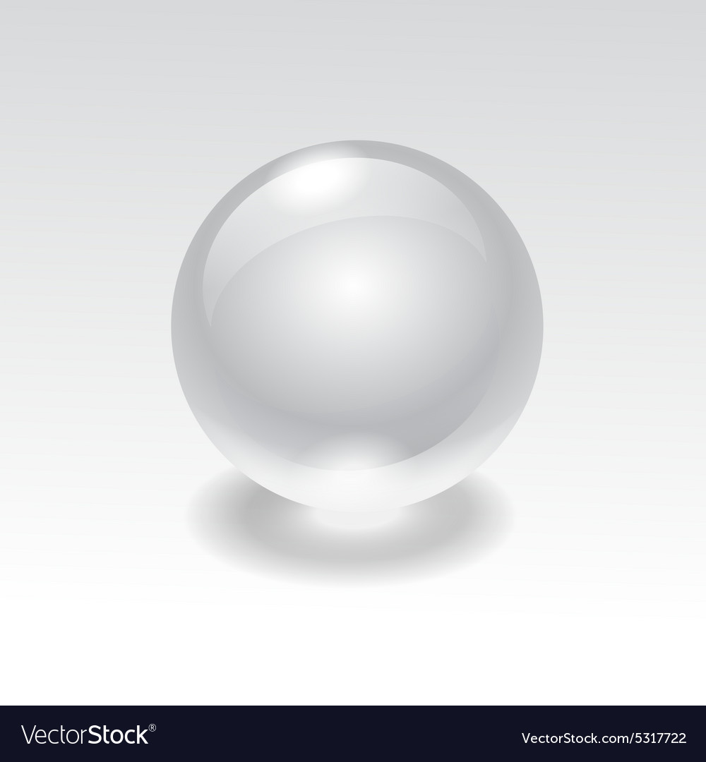 Glass realistic water sphere ball vector image