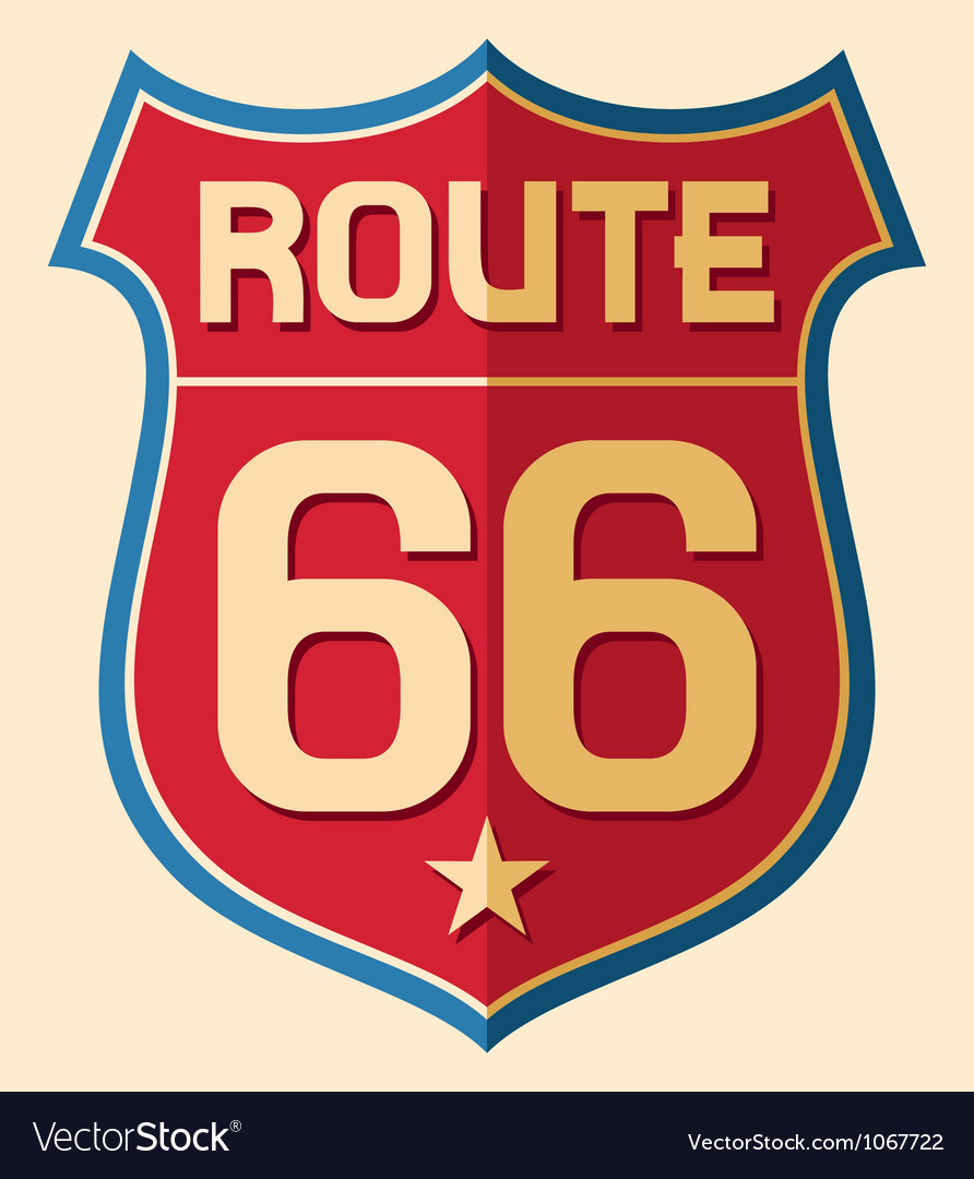 Historic Route US 66 Sign vector image