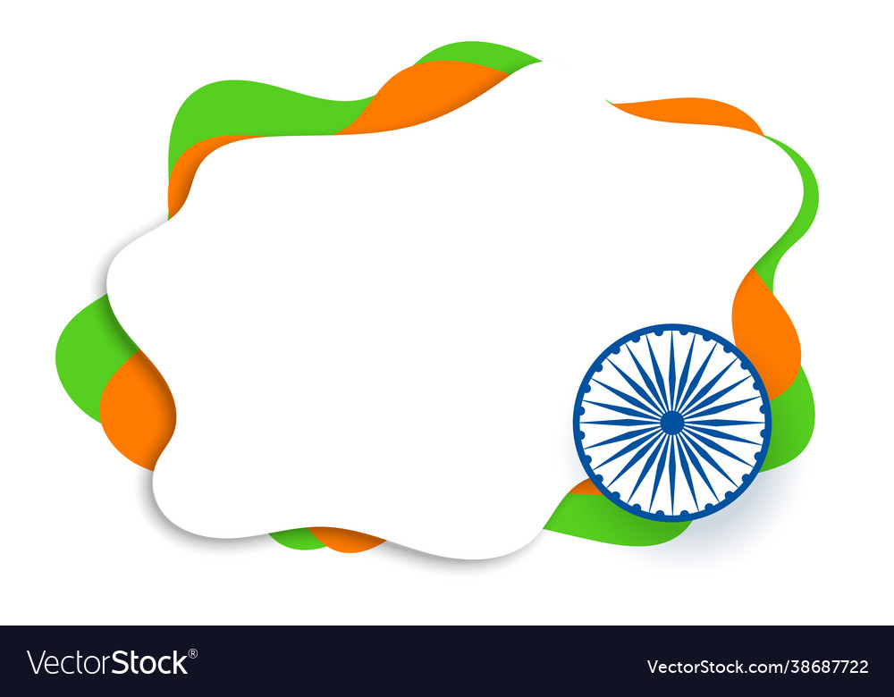 Indian flag in papercut creative style with text