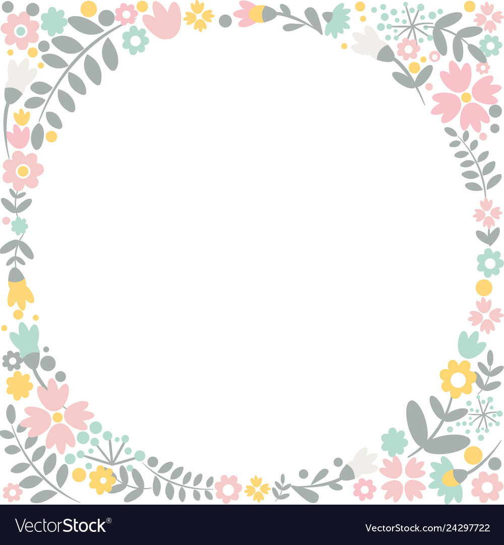Romantic floral hand drawn card