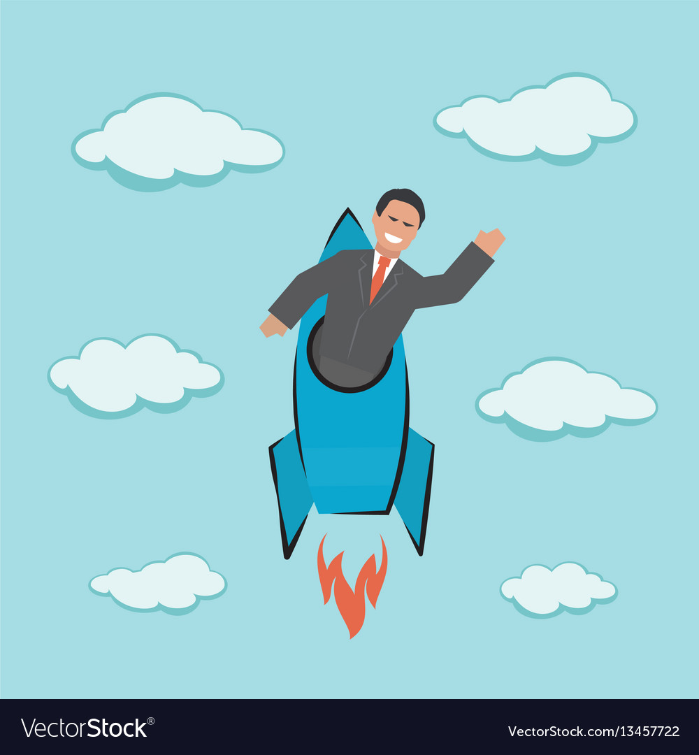 Start up concept business vector image