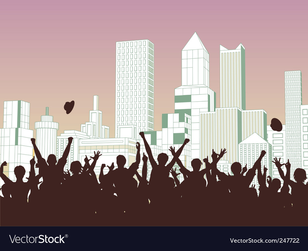 Street celebration vector image