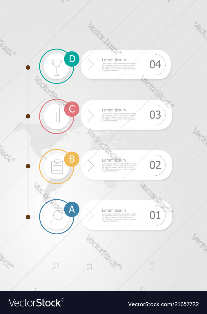 Vertical infographics 4 steps for business
