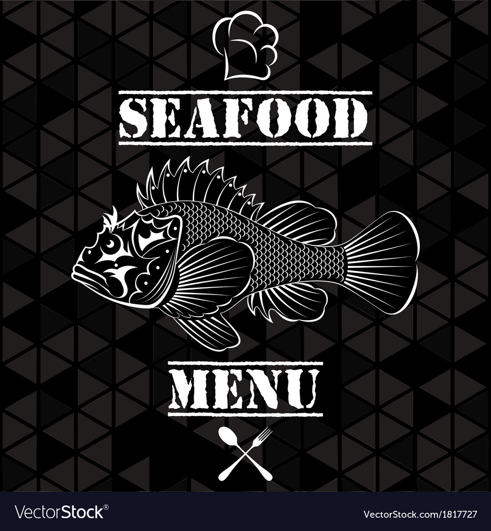 Banner with fish for the restaurant menu
