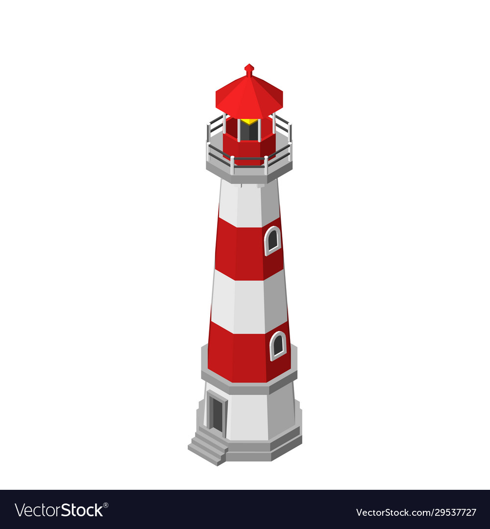 Lighthouse isolated on white background 3d