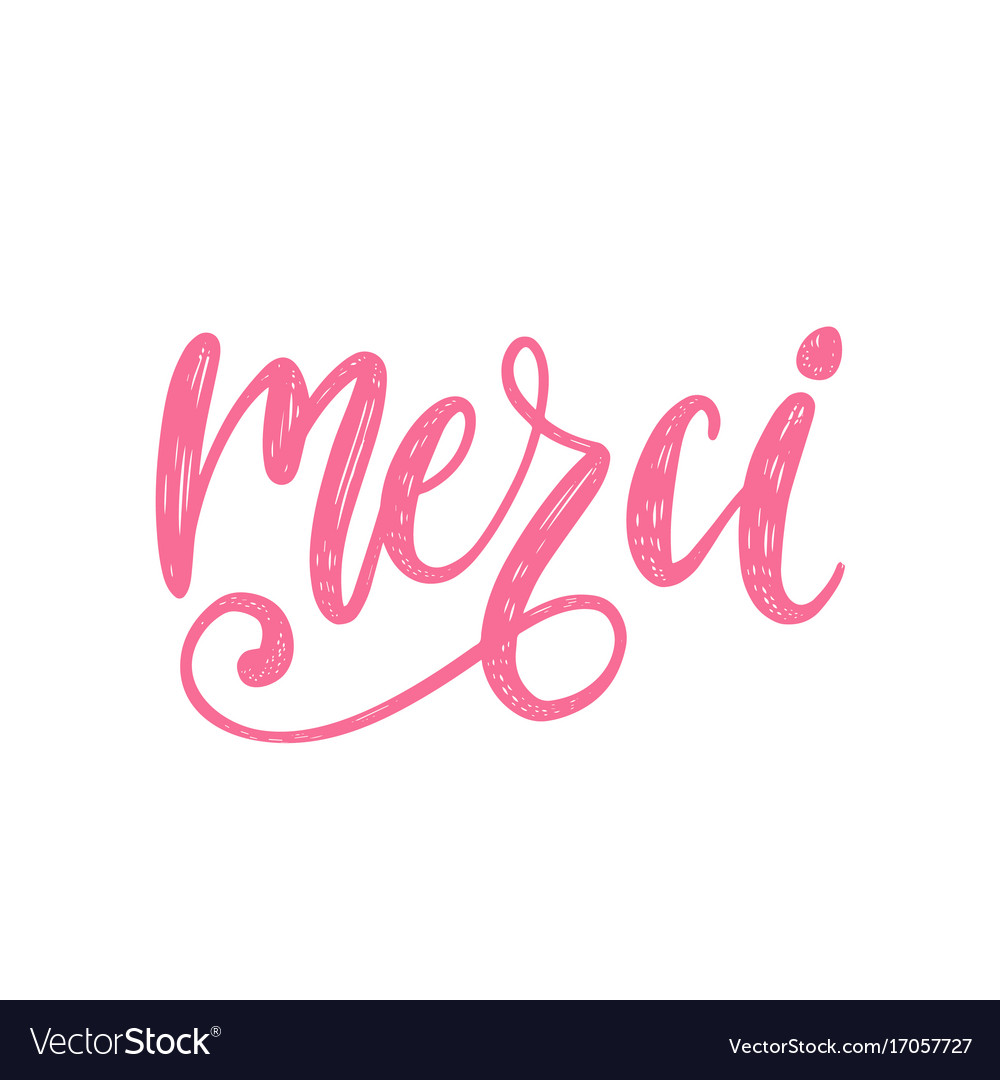 Merci calligraphy french translation of royalty free vector merci calligraphy french translation of vector image spiritdancerdesigns Images