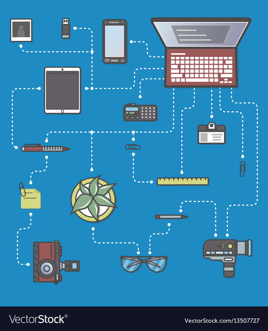 Professional mass media and press infographic vector image