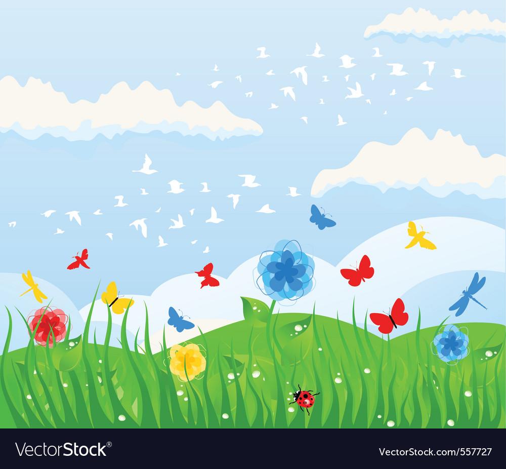 Spring solar background