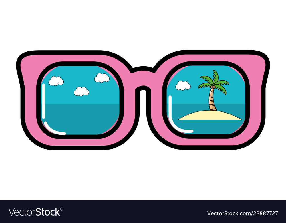 43c9e3d97da Summer sunglasses cartoon Royalty Free Vector Image