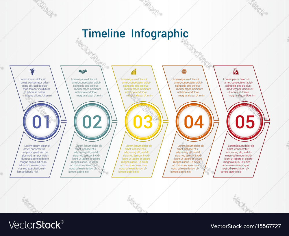 Sample Timeline For Kids | Vertical Timeline Template With Shapes Bubble Chart Timeline