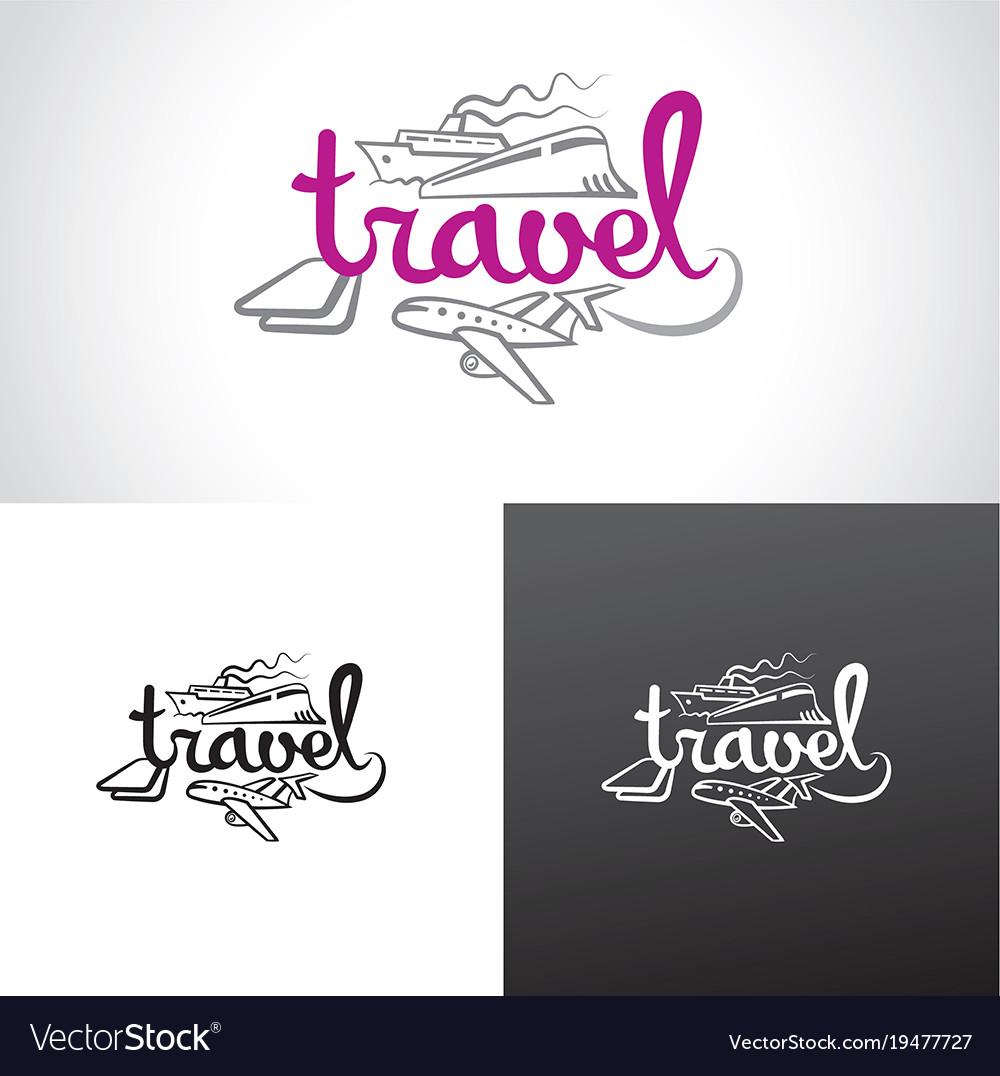 Travel resort agency logo