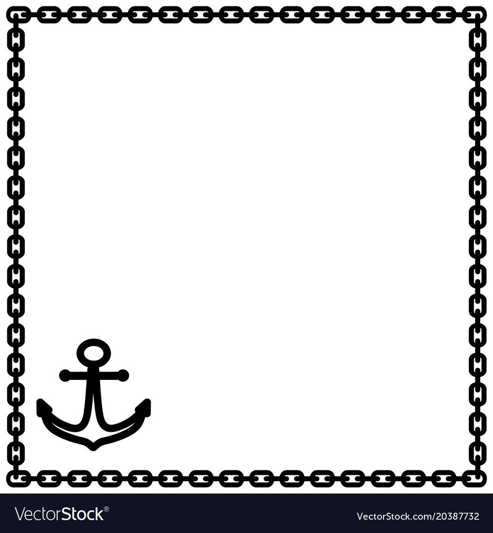 Anchor and chain frame 1302