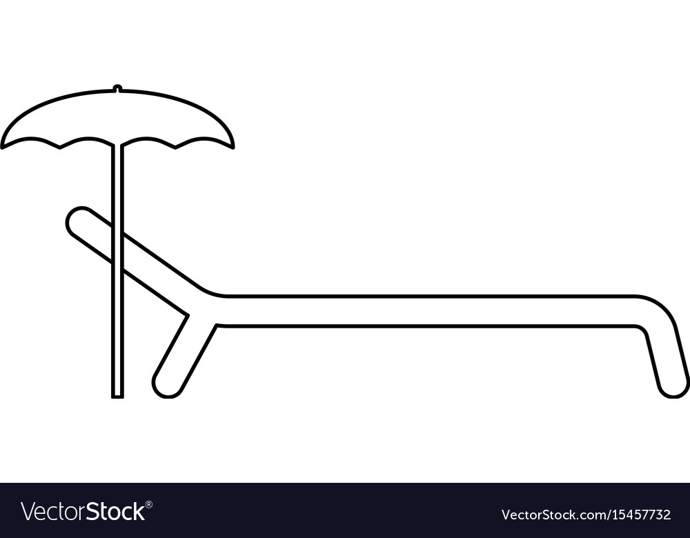 Beach chair the black color icon vector image